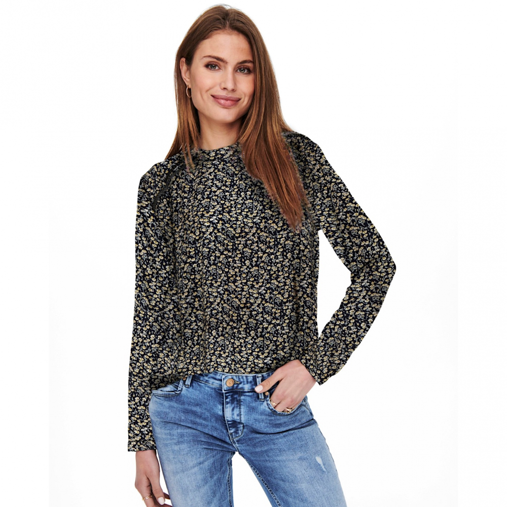 15154629 ONLY MALLORY BLOUSE NAVY
