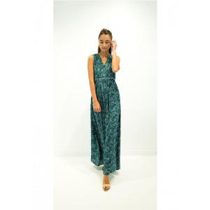 Robe Longue See U Soon 20121109 Vert Floral