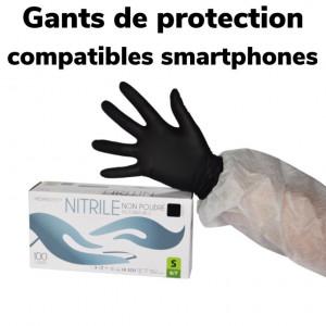 100 GANTS NITRILE DE PROTECTION NOIR